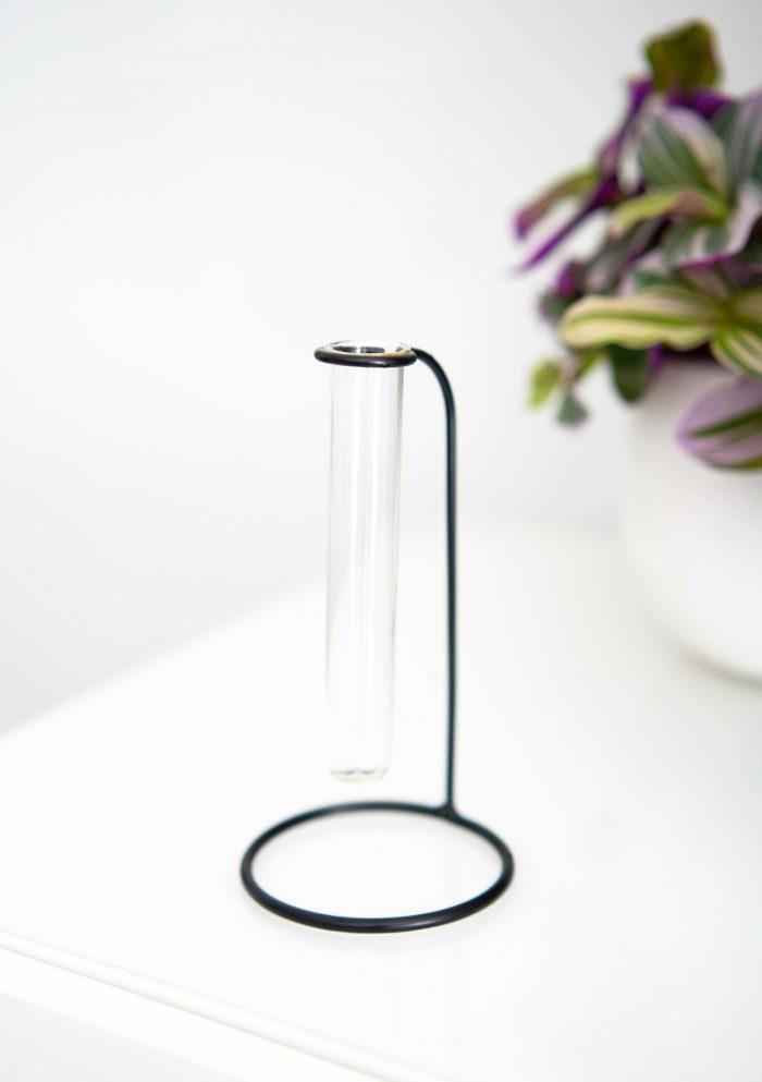 station de bouturage avec fiole en verre