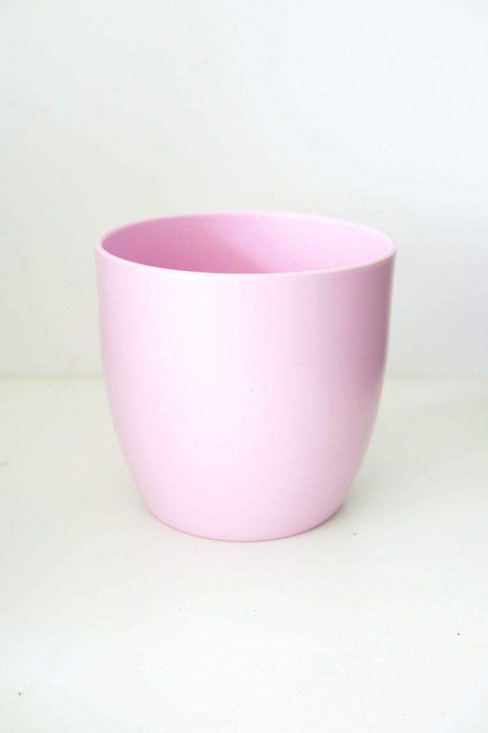 cache-pot rose en céramique 21 cm de diamètre