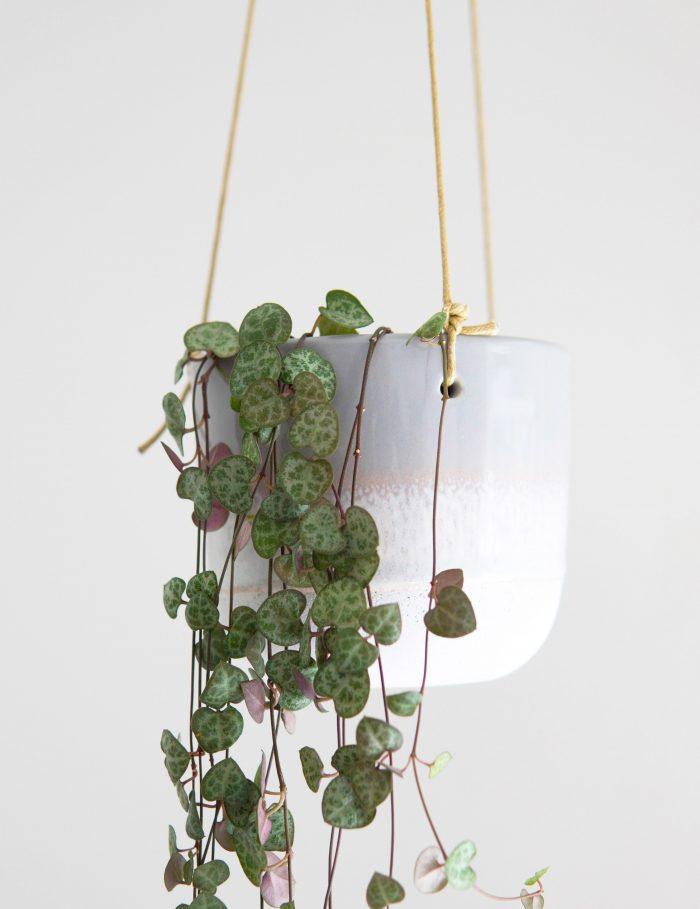suspension pour plantes en céramique