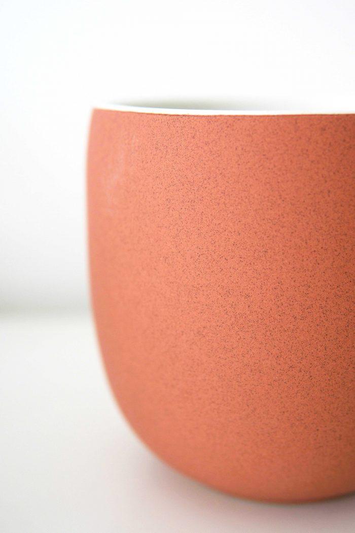 cache-pot couleur terre cuite